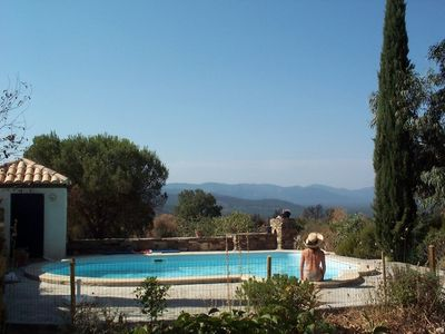 Photo for Holiday home with pool and stunning view of the Massif des Maures