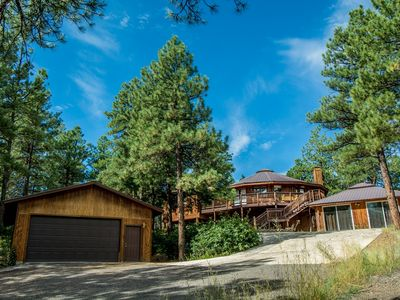 Photo for Spectacular Tree house with tons of extra ammenties: hot tub & firepit.