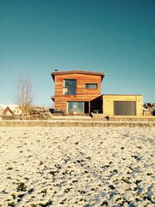 Photo for Super wooden house with views of Mont Blanc and Jura located 20 minutes from Geneva