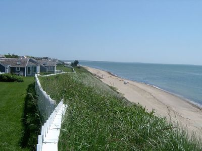 Photo for New Seabury Beach Cottage with stunning ocean views, steps to private beach
