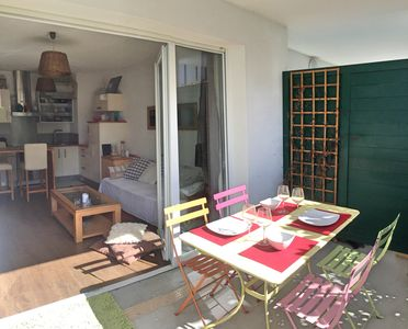 Photo for SEPTEMBER 50 € / NIGHT: T2 with terrace at 4km from the beach