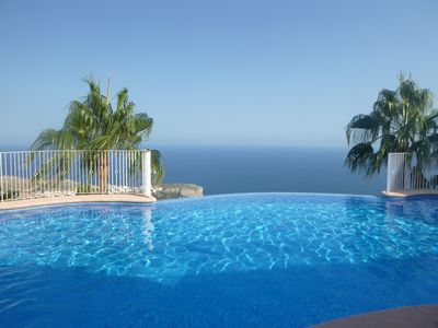 Photo for Fantastic Sea Views, Large Terrace, Free Wi Fi, Free Parking, No Added Charges