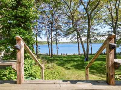 Photo for Tranquil Lake Front Home with Private Beach