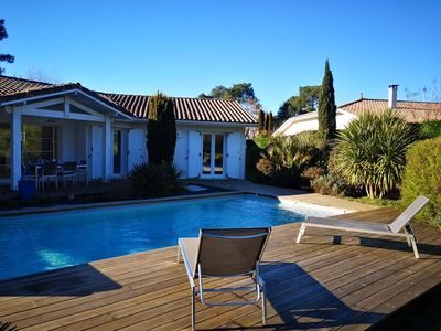 Photo for VILLA WITH HEATED POOL AT GUJAN GOLF
