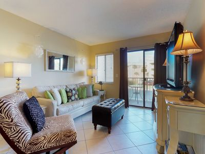 Photo for NEW LISTING! Colorful waterfront condo w/shared pool, hot tub, saunas-near beach