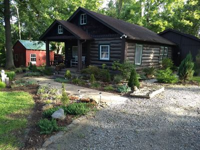 Photo for The Bent Branch Lodge - A Gnomes Retreat – Historic Virginia Log Cabin, Coy Pond & Babbling B...