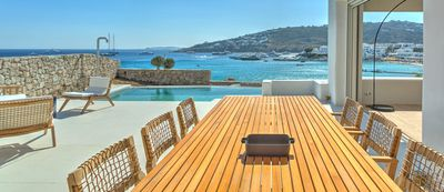 Photo for AMAZING LOCATION: ON THE BEACH, LUXURY VILLA NEXT TO NAMMOS MYKONOS. LARGE PRIVATE POOL 5 BEDROOMS 5 BATHROOMS UP TO 10 GUESTS