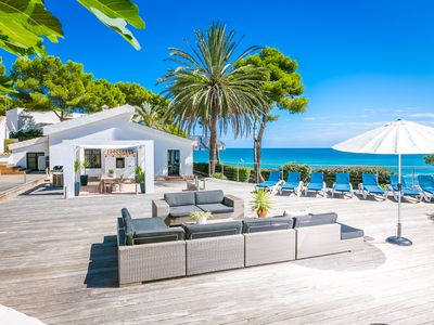 Photo for Front line luxury villa, closest to the ocean, Moraira, Spain with private pool