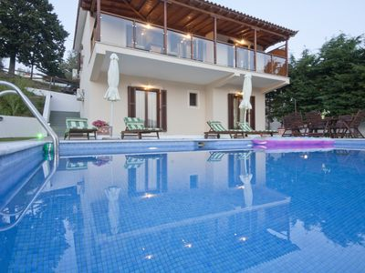 Photo for Luxurious villa with private pool, garden and mountain views and the olive grove