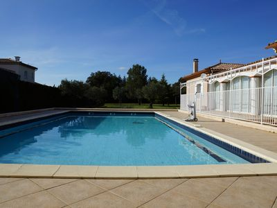 Photo for Single storey cottage facing the swimming pool all comfort at the doors of the Cevennes