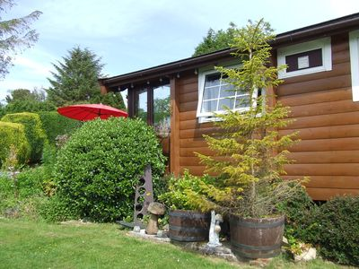 Photo for SELF CATERING 6 BERTH LOG CABIN, SNOWDONIA, pet friendly, mountain views