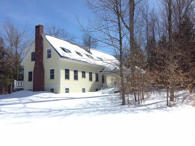 """Photo for Charming Vermont antiques filled 3 bedroom apartment """"A"""" in Stowe Hollow."""