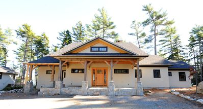 Photo for STUNNING POST AND BEAM HOUSE OVERLOOKING SOMES SOUND, PRIVATE BEACH AND CABINS.
