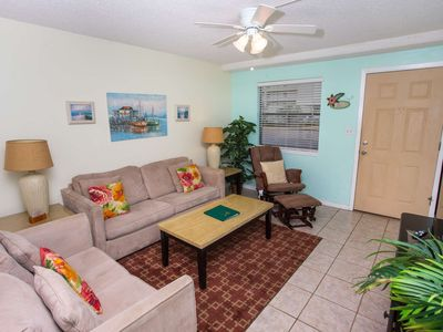 Photo for New Listing! Venus 116 Walk to beach!  Community Pool, Tennis Courts and Basketball! Free Fun!