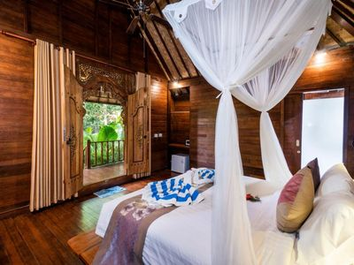 Photo for Balinese Wooden Room in Nusa Lembongan, Minutes to Beach