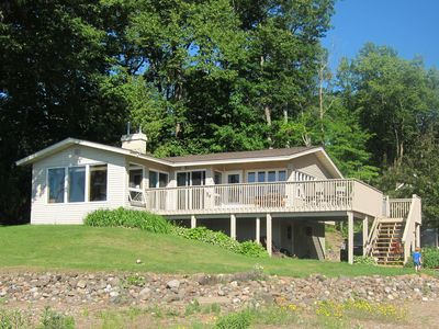 Photo for Lakefront 3Br/2Ba Cabin/Sandy Beach/Wi-Fi /Stone Lake/hayward