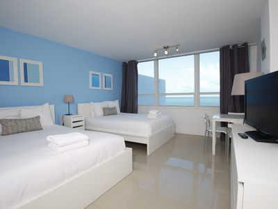 Amazing Ocean view Studio for 4 guests, Beach Access, Pool (525)