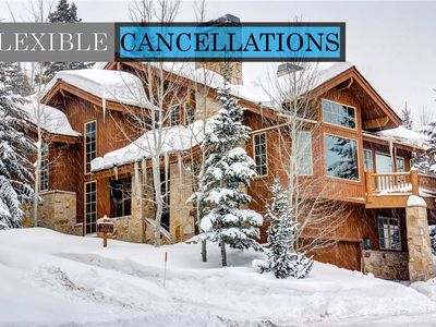 Photo for Truly ski-in/ski-out private home! Epic Views, Private Hot Tub, Lots of Space!