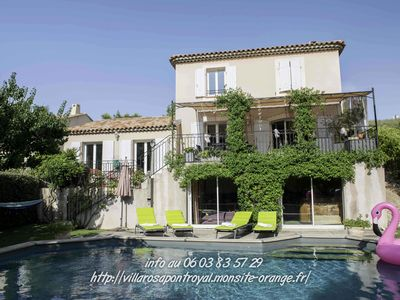 Photo for The Villa Rosa, Heated Pool & Spa on Golf Pont Royal in Provence