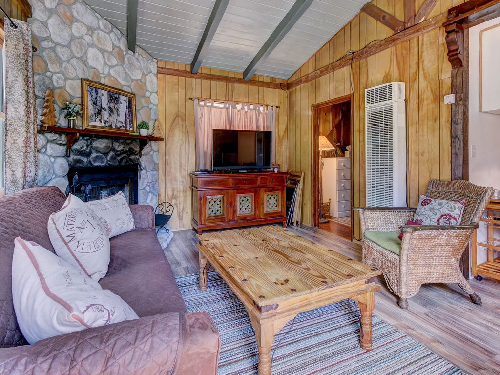 Romantic dog friendly cabin with cozy atmosphere and wood for Romantic big bear cabins
