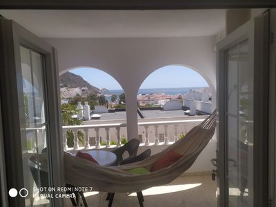 Photo for Apartment Sea View, all comfort, terrace swimming pool parking 3 min beach