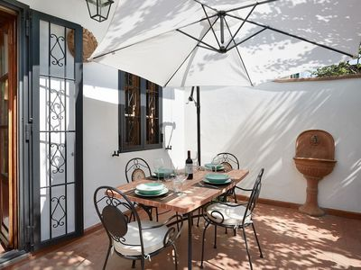 Photo for Mathilde - Apartment with 100 sqm garden, fruit trees and barbecue