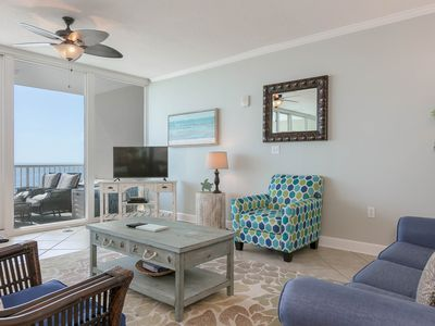 Photo for Gulf view condo w/ a shared, outdoor pool & sauna - close to attractions