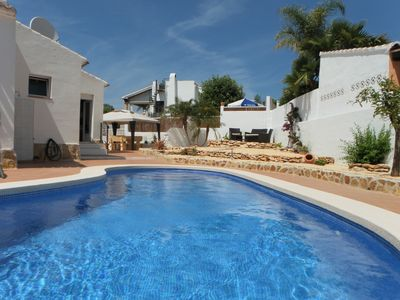 Photo for Private Villa with Pool, Walk to beach, restaurants / bars, Table Tennis, Wifi