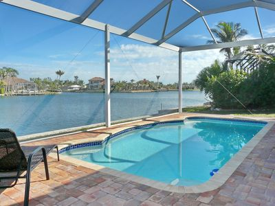 Photo for Private waterfront home w/ heated pool & impressive water view