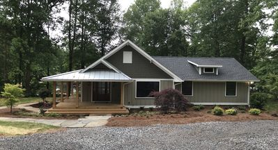 Photo for Waterfront Private Lakefront Cottage, completely renovated craftsman home