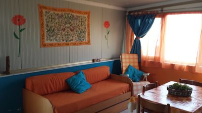 Photo for Bright studio apartment on the terrace with sea view