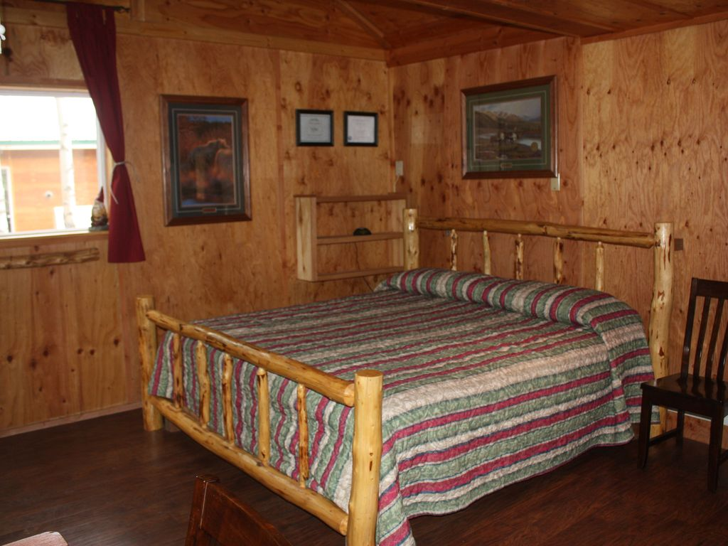 Private Cabins Near Denali National Park. Main Room With Kitchen Area