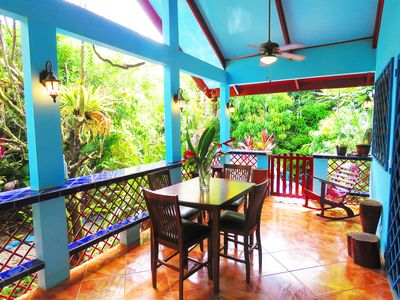 Photo for CASA AZUL & POOL - Lush Tropical Oasis - WiFi/AC/Bikes/Boards - Perfect Location