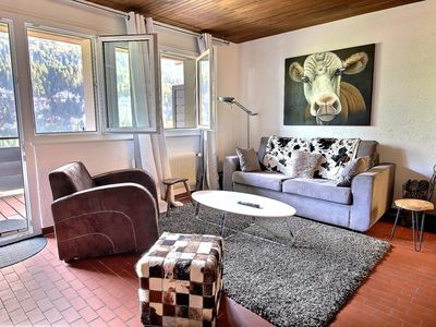 Photo for Appartment decorated with taste at 600 meters from the cableway, 1 chambre, wifi and balcony (4-W)