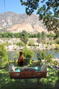 Backyard Swing with river view