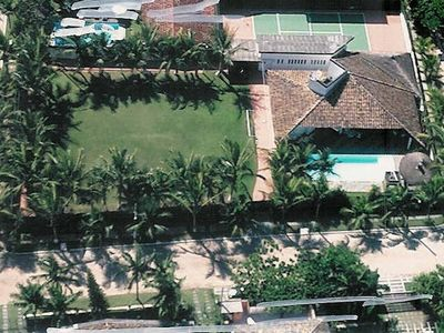 Photo for Beautiful beach house with pool, tennis court, barbecue and football field