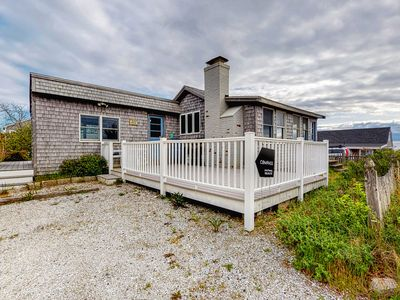 Photo for Adorable bayview cottage w/ spacious deck & gas grill - steps from the beach!
