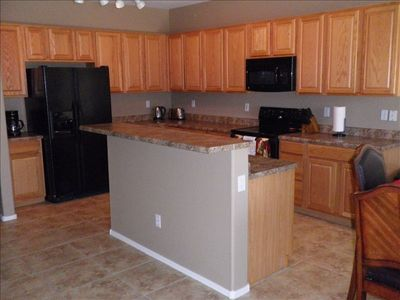 Large kitchen and eating area with everything required to make you feel at home
