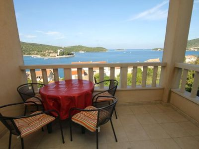 Photo for Two bedroom apartment with terrace and sea view Vis (A-2441-b)