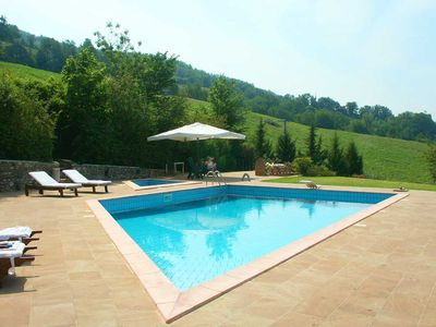 Photo for Near Umbertide, Towerhouse for 4-6 . Wifi, AC, private pool in beautiful country