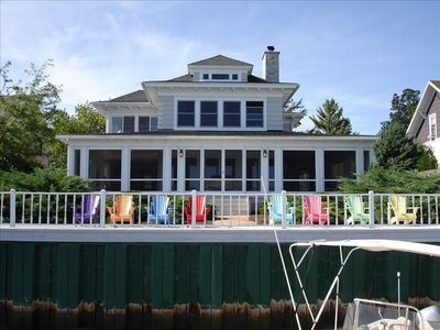 Photo for Beautiful Clayton Waterfront Home & Dock on St Lawrence Seaway