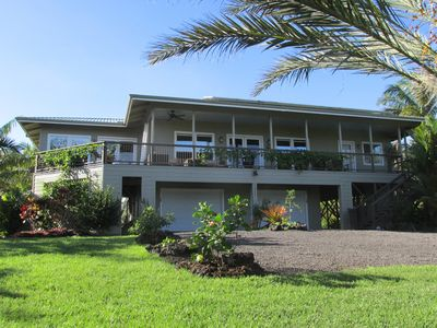 Photo for spacious modern Kehena Beach oceanview w/ hot tub in beautiful private garden