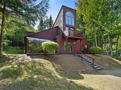 Photo for Private & dog-friendly home w/ balcony, deck - in the White Mountains!