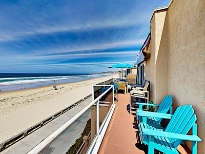 Photo for Chic Oceanfront Mission Beach Penthouse w/ 2 Spacious Balconies