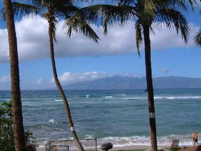 Hale Mahina Beach Resort -- View from Balcony of Unit B206