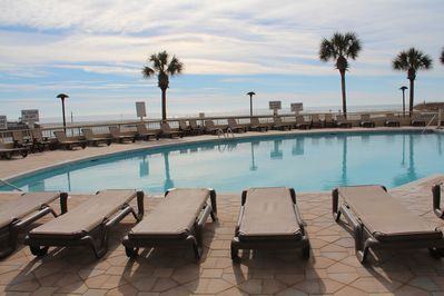 South Tower pool.  Overlooks beach and creek.