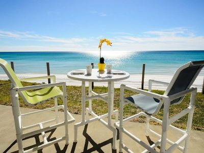 Photo for Gulf Front with Endless Views- Beach Chairs* - Ground Floor Unit - Blue Mountain Villas 4B