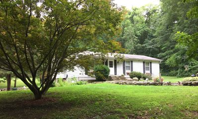 Photo for House on Appalachian Trail, walking distance from NYC trains. 3bd/1ba, 3 acres