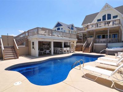 Photo for Best Of My Love: Pub and theater room, private pool, hot tub, elevator, oceanfront with 14 bedrooms.