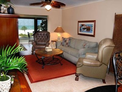 Photo for Cozy Romantic Siesta Key Beachfront Condo-full beach view. 50 steps to the beach